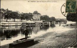 44 - NANTES - Quai De Versailles Et Pont De Verdun - Bateaux Lavoirs - Nantes