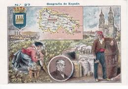 27 LOGROÑO - CROMO DE GEOGRAFIA DE ESPAÑA - NTRA. SRA. DE LAS ANGUSTIAS (GRANADA) CHOCOLATES ELABORADOS A BRAZO - Chocolate