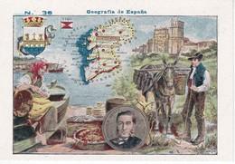 36 PONTEVEDRA - CROMO DE GEOGRAFIA DE ESPAÑA - NTRA. SRA. DE LAS ANGUSTIAS (GRANADA) CHOCOLATES ELABORADOS A BRAZO - Chocolate