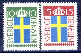 #Sweden 1955. National Flag. Michel 404-05. MNH(**) - Ongebruikt