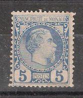 MONACO 1885, Prince Charles III , Yvert N° 3, 5 C Bleu,neuf * / MH ,  TB Cote 103 Euros - Monaco