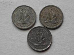 Caraibes 10 Cents  1955 -59-65      Km#5   Cupronickel  TTB   DATE AU CHOIX - Caraïbes Orientales (Etats Des)