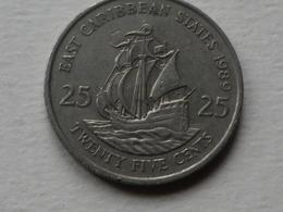 Caraibes 25 Cents  1980      Km#6   Cupronickel    TTB - East Caribbean States