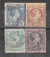 AFFAIRE !!! MONACO 1885, Prince Charles III , 4 Timbres Yvert N° 3, 4, 6 & 7 , Obl TB Cote 250 Euros - Monaco