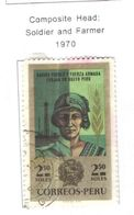 Perù PO 1970 Testa Soldato E Farmer .Scott.534 Used See Scans On Scott.Pages - Perù
