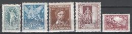 Ungheria 1923 Unif.369/73 **/MNH VF/F - Ungheria