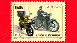 ITALIA - Usato - 2013 - Europa -  0,70 - Motocicli Usati Per Il Servizio Postale - 2011-...: Usati