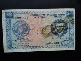 CHYPRE : 250 MILS  1.8.1976  P 41c   B+ - Chypre