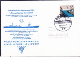 BRD FGR RFA - Stapellauf 1. Eur. Atomschiff 1103 Fuhr Unter Namen 'Otto Hahn' (MiNr: 418) 1964 - Brief * - [7] République Fédérale