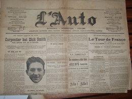 TOUR DE FRANCE / BOXE CARPENTIER /  L AUTO - Newspapers