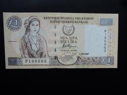 CHYPRE : 1 POUND  1.10.1997  P 60a   SUP+ - Chypre