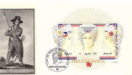 Nouvelle Calédonie 1989 - Y&T BF 9 - Enveloppe 1er Jour - Bicentenaire De La Révolution Française - La Femme Du Sans Cul - Neukaledonien