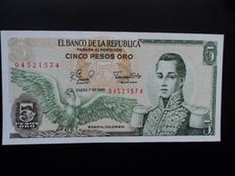 COLOMBIE : 5 PESOS ORO  1.1.1980  P 406f  NEUF - Colombie