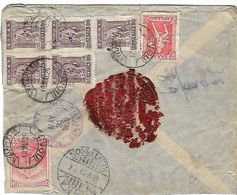 GREECE 1923 Registered Cover From Kyparissia To Klamath Falls Oregon 7 Stamps COVER USED - Brieven En Documenten