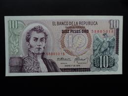COLOMBIE : 10 PESOS ORO  1.1.1978  P 407f   NEUF - Colombie