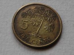 Seychelles 5 Cents 1997  PM Pobjoy   Km#47.2  Laiton     TTB - Seychelles