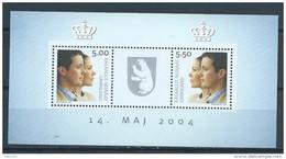 Groënland 2004 Bloc 29 Neuf, Mariage Princier - Blocs