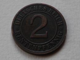 Allemagne 2 Rentenpfennig 1923 D Munich    Km#31  TTB+   Belle Patine - 2 Rentenpfennig & 2 Reichspfennig
