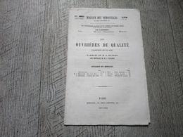 Les Ouvrières Partition Ancienne Magasin Des Demoiselles 1857 Vaudeville En 1 Acte Musique - Partituren