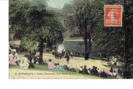 Cpa Paris Buttes Chaumont Les Bords Du Lac - Arrondissement: 19