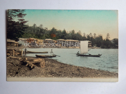 JAPAN Fisherman Fishing Boat AK Old Postcard - Giappone
