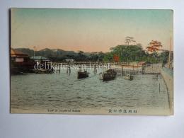 JAPAN View Of Dzushi At Soshiu Boat AK Old Postcard - Giappone