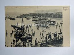 INDIA BHARAT BOMBAY MUMBAI Seashore View Boat Fisherman AK Old Postcard - India