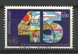 NATIONS UNIES , Office De Genève , 0.90 Fs , 45° Anniversaire Des Nations Unies, 1990 , N° YT : De 192 - Oblitérés