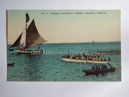 SENEGAL DAKAR AFRICA Regates Boat AK Old Postcard - Senegal