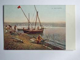 ISRAELE Israel GIORDANIA PALESTINA Mar Morto Yam HaMelah Mer Morte Boat AK Old Postcard - Israele