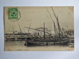 TUNISIA SOUSSE SUSA Le Port Boat Tunisie Tunis AK Old Postcard - Tunisia