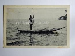 ERITREA Ä'rtra Colonie Coloniale AOI Fisherman Boat AK Old Postcard Posta Militare - Eritrea