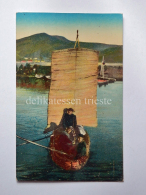 BOLIVIA Lago Titicaca Boat Fisherman South America AK Old Postcard - Bolivia