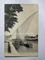 EGITTO EGYPT ALEXANDRIA Al-Iskandariyya Fisherman Boat AK Old Postcard - Alexandria