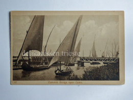 EGITTO EGYPT CAIRO Al-Qāhira Zamalek Bridge Fisherman Boat AK Old Postcard - Cairo