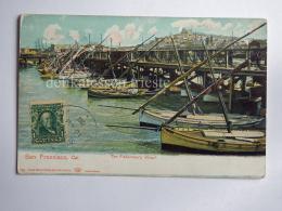 USA CALIFORNIA SAN FRANCISCO Fishermen's Wharf Old Postcard - San Francisco