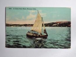 CUBA LA AVANA HAVANA La Habana Cuba Bum Boat AK CPA Old Postcard - Cuba
