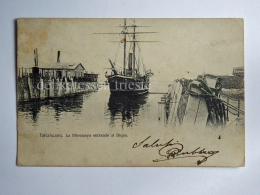 CILE CHILE TALCAHUANO Pilcomayo Dique Boat AK CPA Old Postcard - Cile