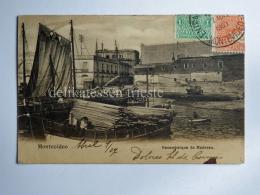 URUGUAY San Felipe Y Santiago De MONTEVIDEO Barque Boat AK CPA Old Postcard - Uruguay