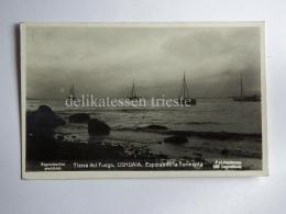 ARGENTINA USHUAIA Tierra Del Fuego Boat AK CPA Old Postcard - Argentina