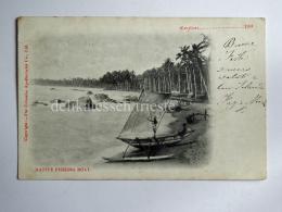 CEYLON SRI LANKA Native Fishing Boat Fisherman AK CPA Old Postcard - Sri Lanka (Ceylon)