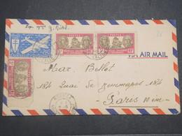NOUVELLE CALÉDONIE - Enveloppe De Nouméa Pour Paris En 1946 , Affranchissement Plaisant - L 14817 - Nueva Caledonia