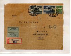 EDB0A - CECOSLOVACCHIA , Frontespizio Di Raccomandata Da Kezmarok 9/II/1935 - Airmail