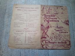 La Poupée Malade Odette Vargues Rondes Chansons Enfantines Partition Ancienne Musique - Partitions Musicales Anciennes