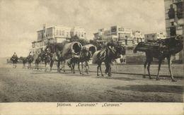 Saudi Arabia, DJEDDAH JEDDAH, Camel Caravan (1910s) Postcard - Saudi Arabia