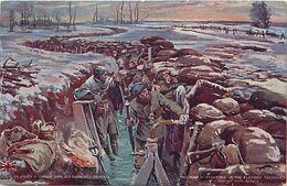 Ref W748- Guerre 1914- 18- Illustrateurs - Illustrateur -combat Dans Les Tranchées Inondées - Carte Bon Etat  - - War 1914-18