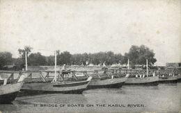 Afghanistan, KABUL, Pontoon Bridge Over Kabul River (1910s) Postcard - Afghanistan