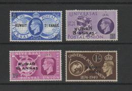 KUWAIT    1949    U P U     Set  Of  4    MNH - Kuwait