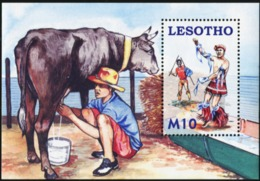 LESOTHO 2006 Herdboys Cow Fauna MNH - Lesotho (1966-...)