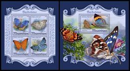 MOZAMBIQUE 2018 - Butterflies. M/S + S/S. Official Issue - Insecten